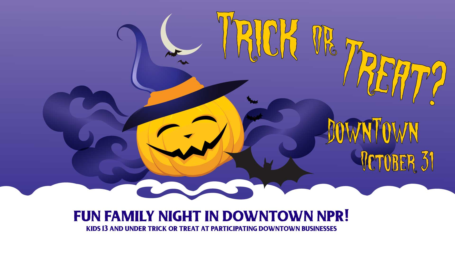 Free family trick or treat in downtown New Port Richey, FL